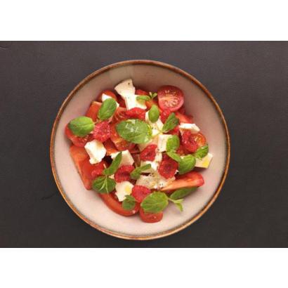 Salade de tomate - mozzarella & balsamique blanc tomate & basilic