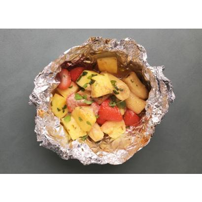 Fruits grillés à la crème d'amande
