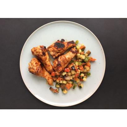 Pilons de poulets grillés