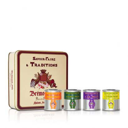 Coffret assortiment 4 huiles aromatisées