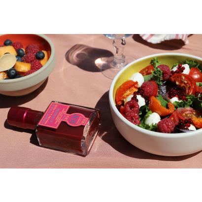 Salade fraîcheur au vinaigre à la pulpe de framboise