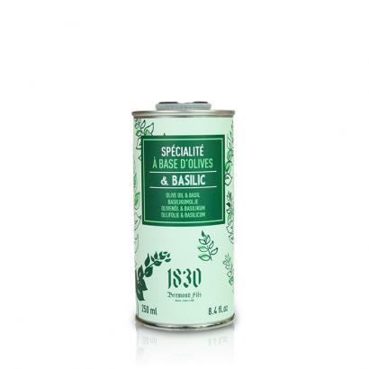 Huile d'olive vierge extra aromatisée au basilic - 250ml