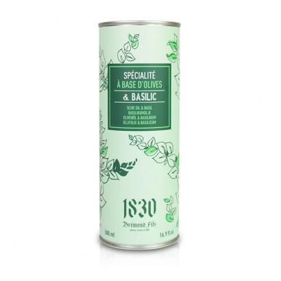 Huile d'olive vierge extra aromatisée au basilic - 500ml