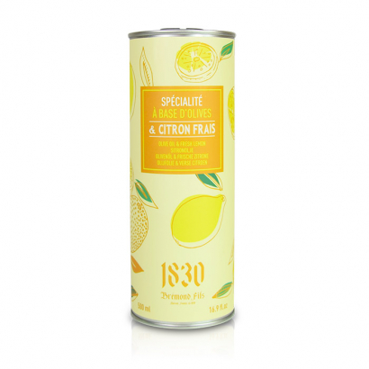 Huile d'olive vierge extra aromatisée au citron - 500ml