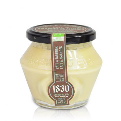 Pâte à tartiner Bio lait & amandes blanchies - 220g
