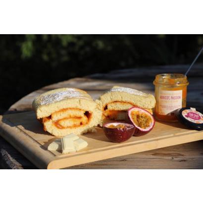 Roulé Pâte de fruit - Abricot Passion & Chocolat blanc