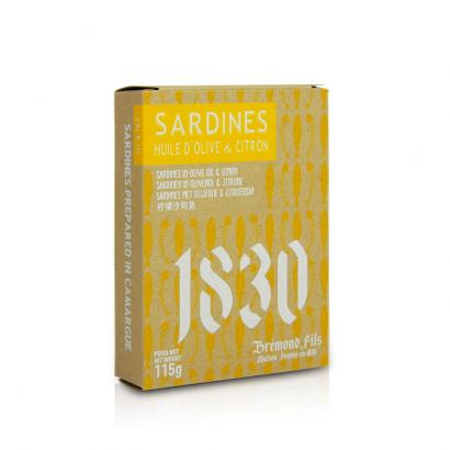 Sardines à l'huile d'olive & citron - 115g