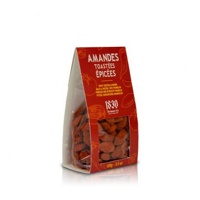 Amandes toastées épicées - 100g
