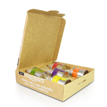 Gourmet touch 5 huiles vierge extra aromatisées - 5 x 100 ml
