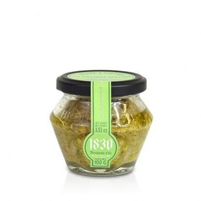 Pulpe d'olives vertes, amandes grillées & balsamique blanc - 100g