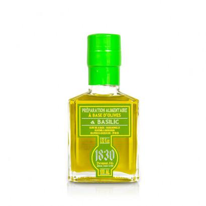 Huile d'olive vierge extra aromatisée au basilic - 100ml