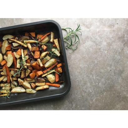 Oven-baked vegetables