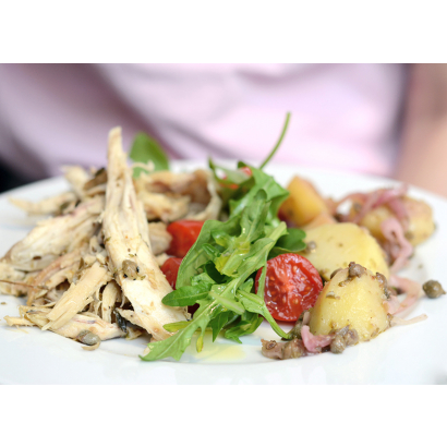 Cold chicken with capers