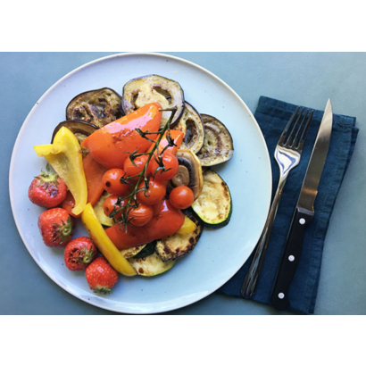 Grilled vegetables and Vinaigrette with Spices