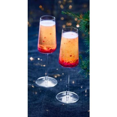 Festive Cocktail - Champagne & Rasberries