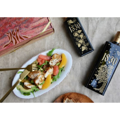 Chicken salad with Timut pepper and citrus fruit