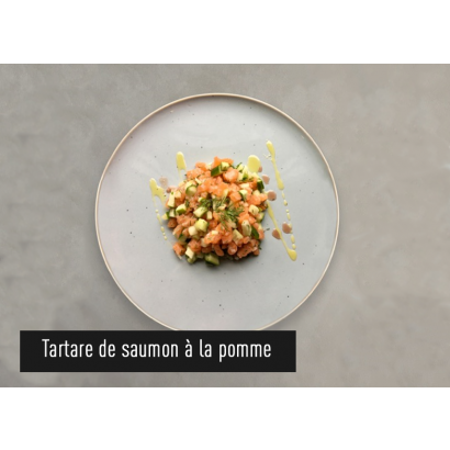 Salmon tartare with apple
