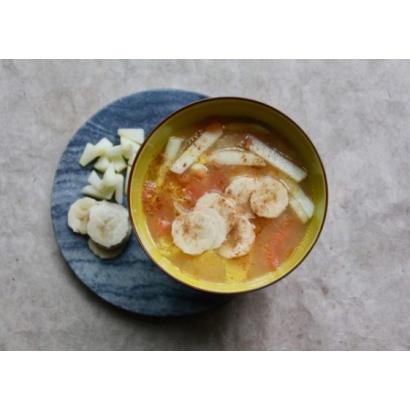 Soupe d'agrumes aux pommes