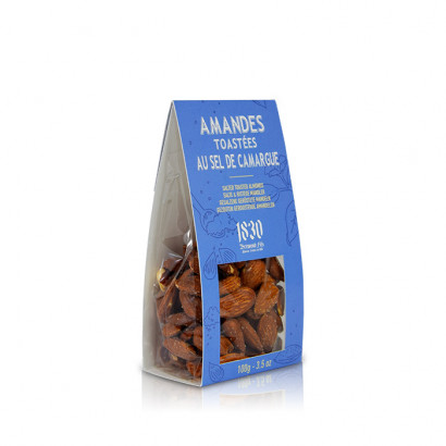 Toasted almonds with Camargue salt - 100g