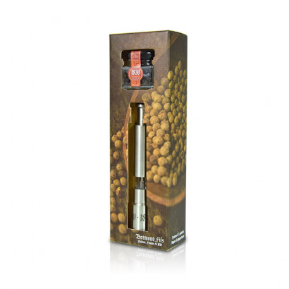 Pepper mill set with a grand cru pepper