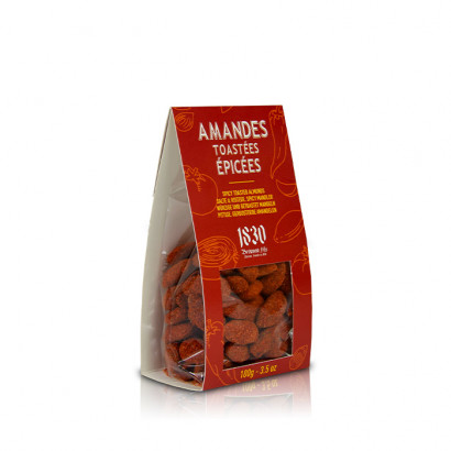 Spicy toasted almonds - 100g
