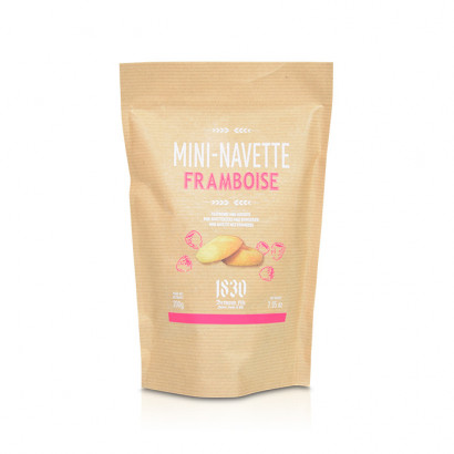 Rasberry-flavored mini Navettes from Provence  - 200g