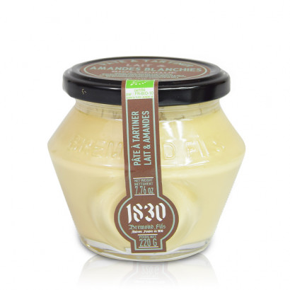 Organic white almonds & milk spread - 220g