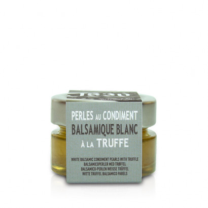 Pearls of white Balsamic vinegar with truffle - 50g