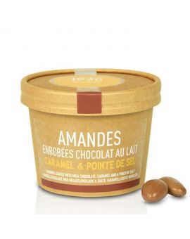 Almonds coated with milk chocolate, caramel & a pinch of salt