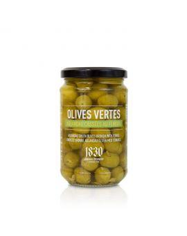 Olives vertes aglandau cassées au fenouil