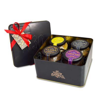 Metal box set of aperitif in Provence