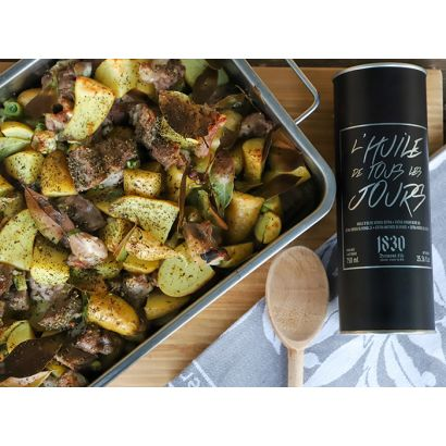 Lamb shoulder with roasted potatoes