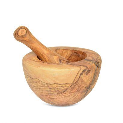 Mortier en bois d'olivier grand modèle