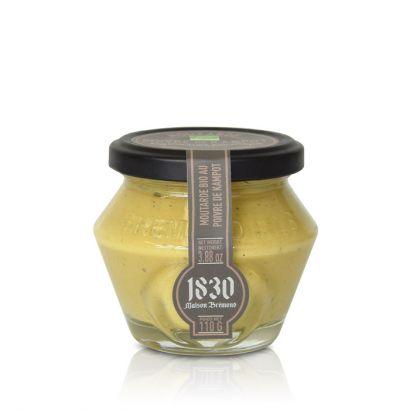 Moutarde bio au poivre noir de Kampot