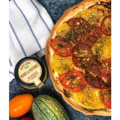 Tarte salée aux tomates & à la moutarde aux herbes de Provence